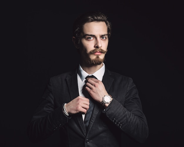 Picture of an elegant young fashion man Free Photo