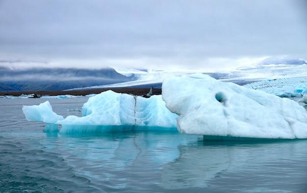 Piece of blue ice Premium Photo
