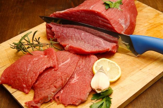 Piece of cut beef Premium Photo