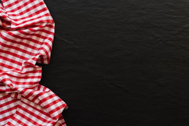 Кусок красивой клетчатой ткани Premium Фотографии