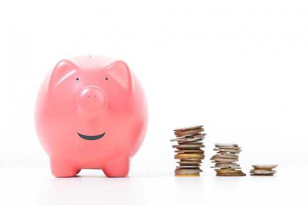 Piggy bank isolated on white Premium Photo