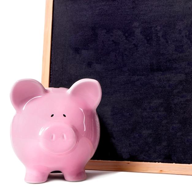Piggy bank small blackboard Free Photo