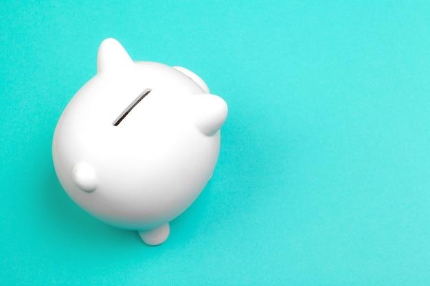 Piggy bank, top view Premium Photo