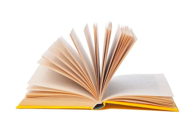Pile of books isolated on white Premium Photo