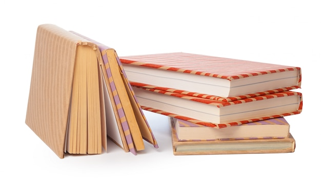 Pile of books isolated on white Premium Photo