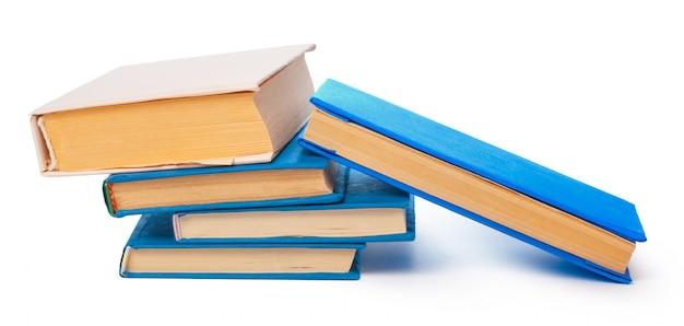 Pile of books isolated Premium Photo