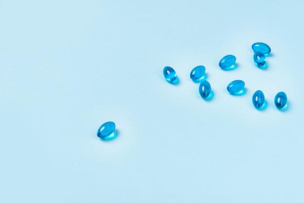 Куча капсул капсул мягкого синего цвета Бесплатные Фотографии