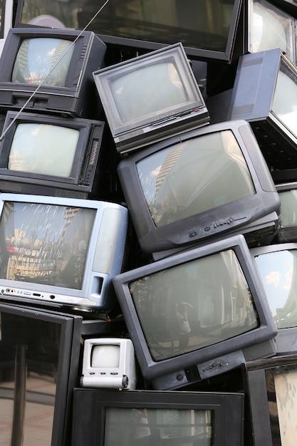 Pile of old television Premium Photo