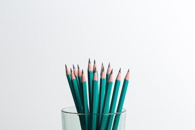 Pile of pencils Premium Photo