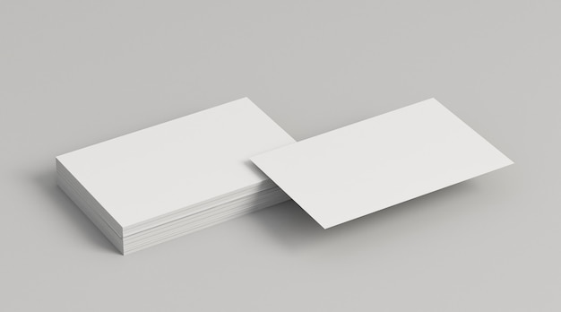 Piles of copy space business cards Free Photo