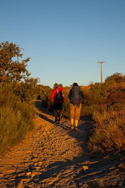 Pilgrimns along the way of st. james Premium Photo