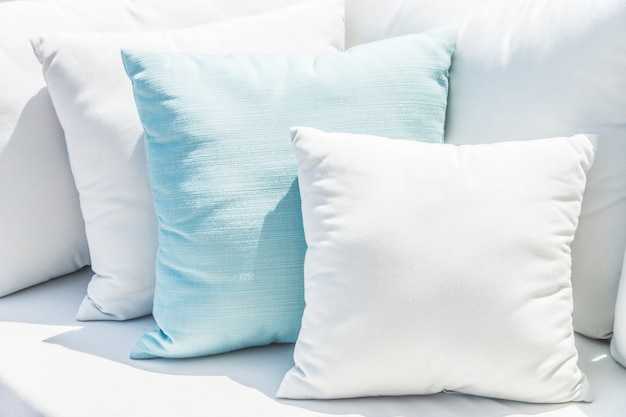 Pillow on sofa bed Free Photo