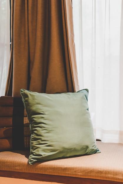Premium Photo Pillow On Sofa Decoration In Bedroom Vintage Light Filter