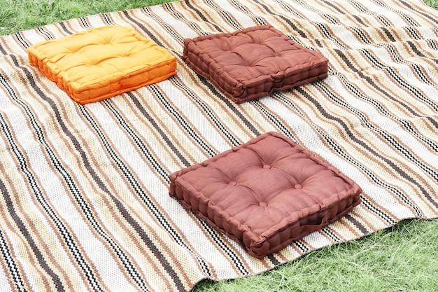 Almofadas para piquenique