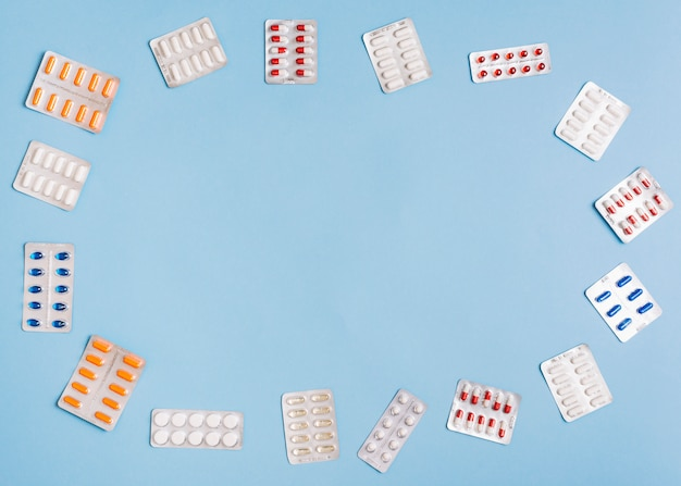 Pills in package Free Photo