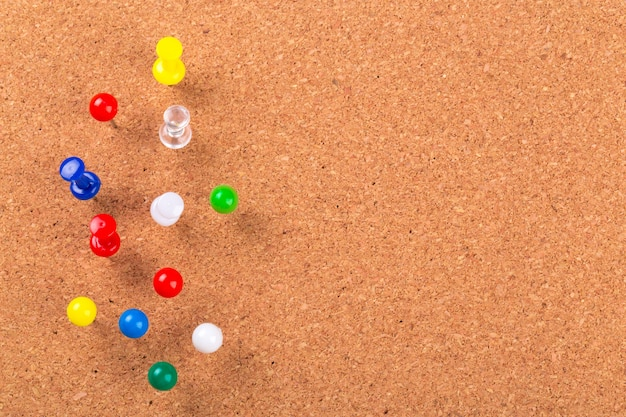 Premium Photo Pin Board Texture For Background And Colorful Pins
