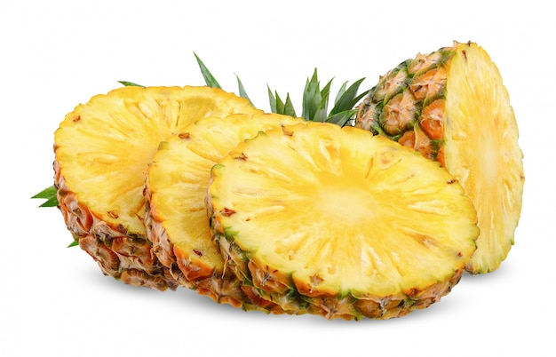 Pineapple isolated on white with clipping path Premium Photo