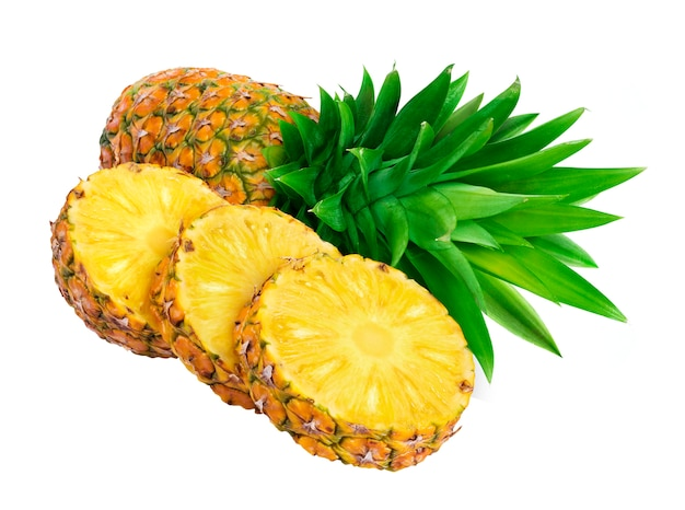 Pineapple slices isolated Free Photo