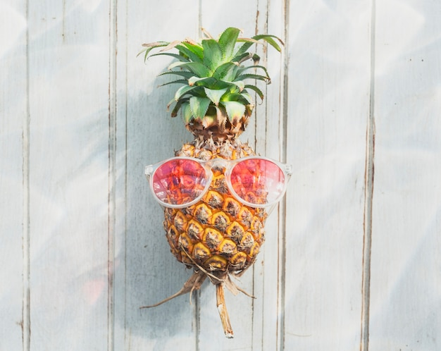 A pineapple with sunglasses Free Photo