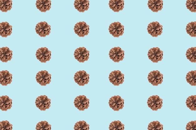 Pinecone 파란색과 갈색 배경 무료 사진