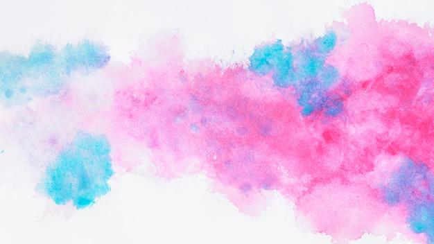 Розовые и синие облака дизайн Premium Фотографии