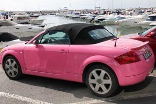 Pink audi  pink Free Photo