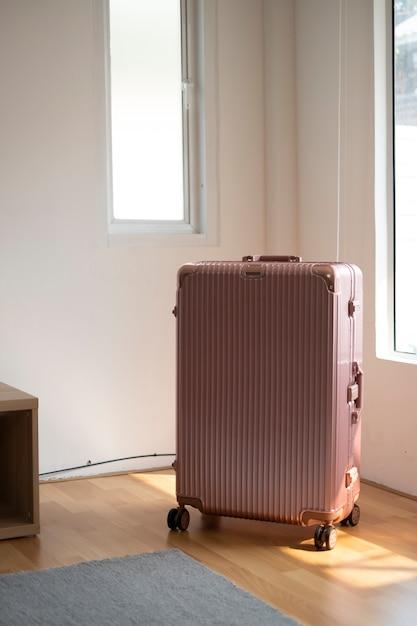 Pink big luggage Free Photo