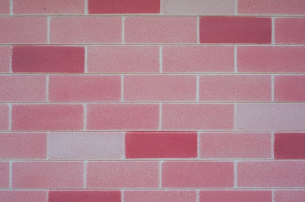 Pink brick wall for background Free Photo