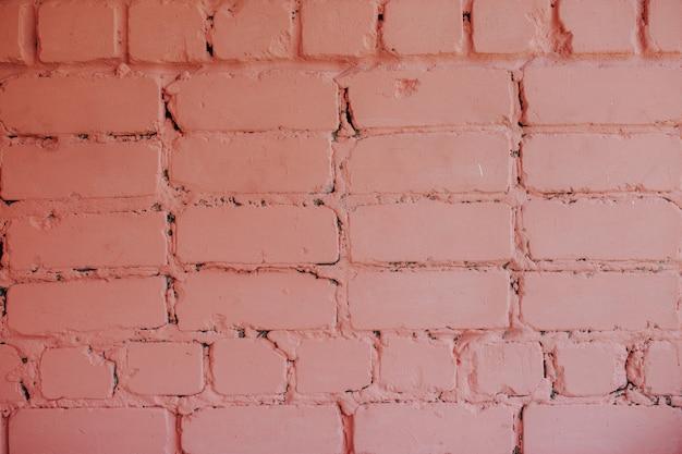 Pink bricky wall. Premium Photo