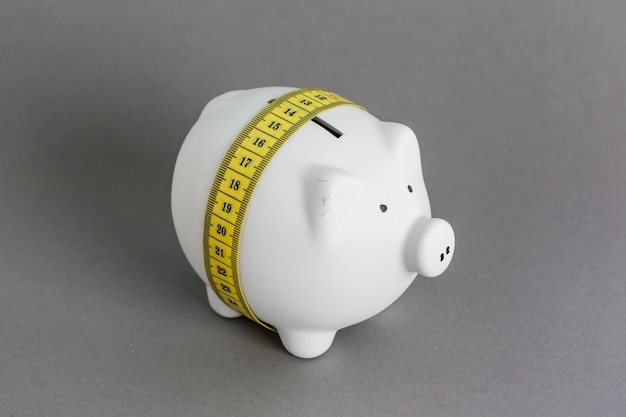 Pink ceramic piggy bank Premium Photo