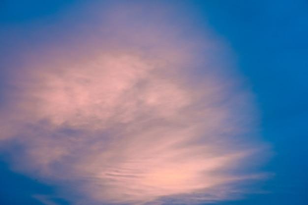 Pink clouds in blue sky Premium Photo