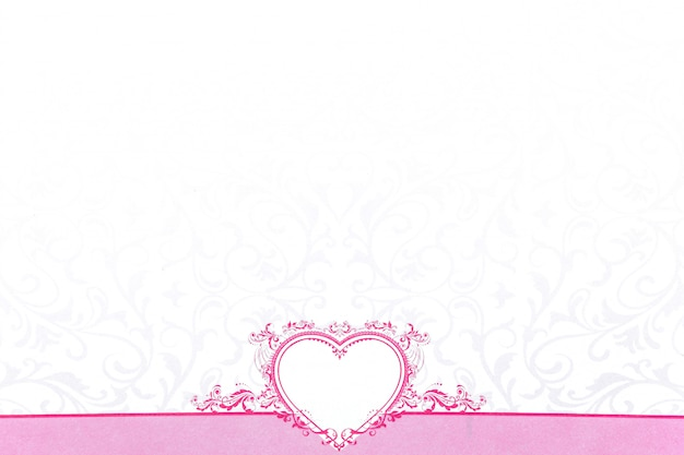 Pink heart for valentine day Premium Photo