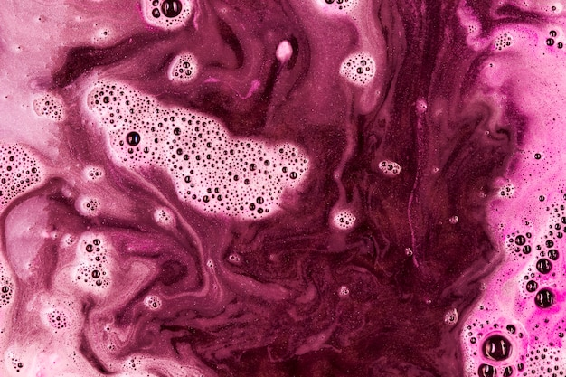 Pink liquid with foam Free Photo