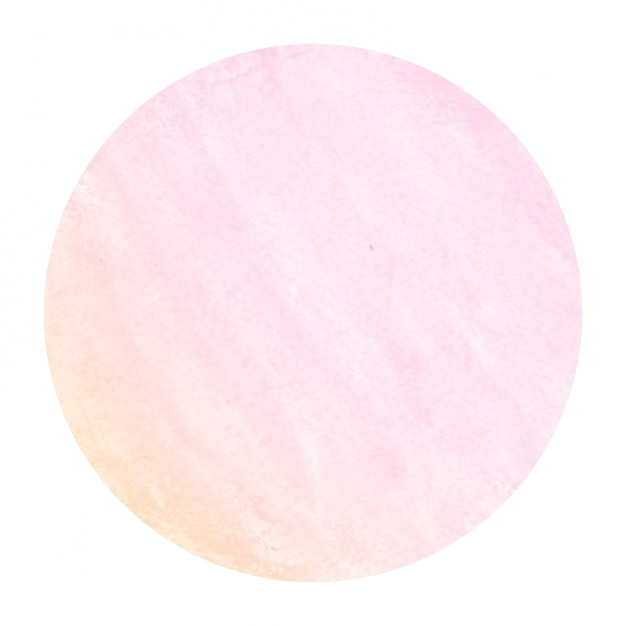 Pink and orange hand drawn watercolor circular frame background texture with stains Premium Photo