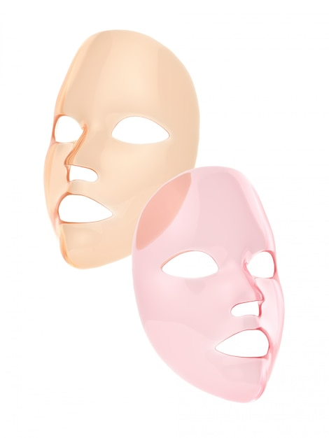 And Render Premium Orange Photo 3d Sheet Mask Pink