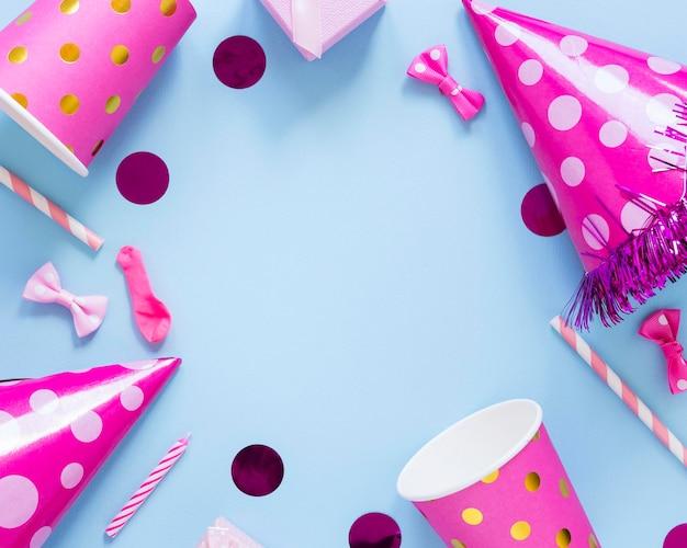 Розовая круглая рамка для вечеринок Бесплатные Фотографии