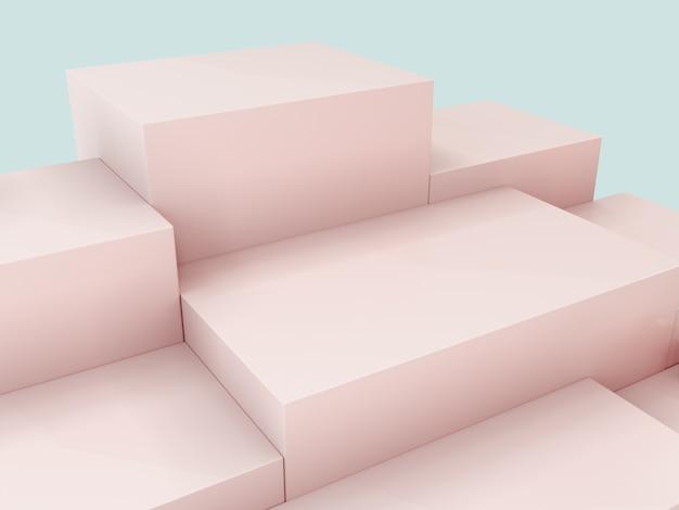 Pink product display podium, abstract  background Premium Photo