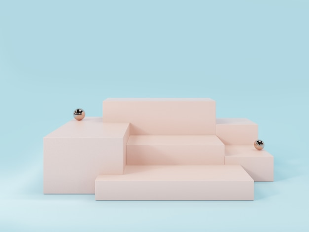 Pink product display podium Premium Photo