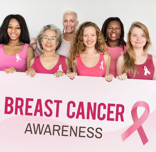 Pink ribbon breast cancer awareness concept Premium Photo