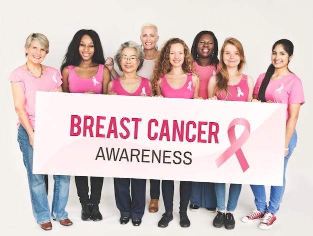 Pink ribbon breast cancer awareness concept Premium Photo