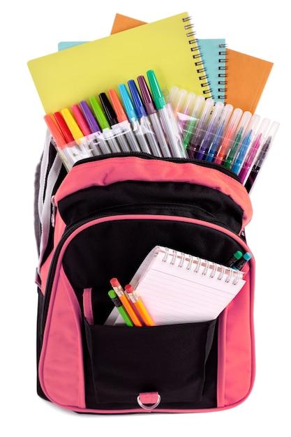Pink school bag Free Photo