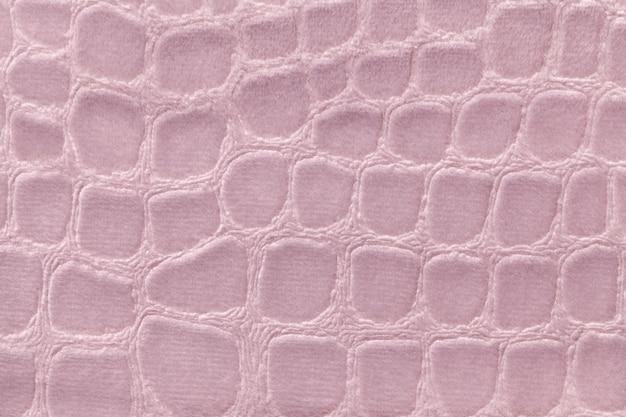 ピンクの柔らかい室内装飾織物材料、クローズアップ。 Premium写真