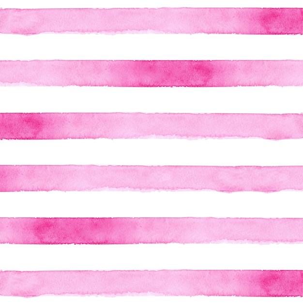 Pink striped watercolor background Premium Photo