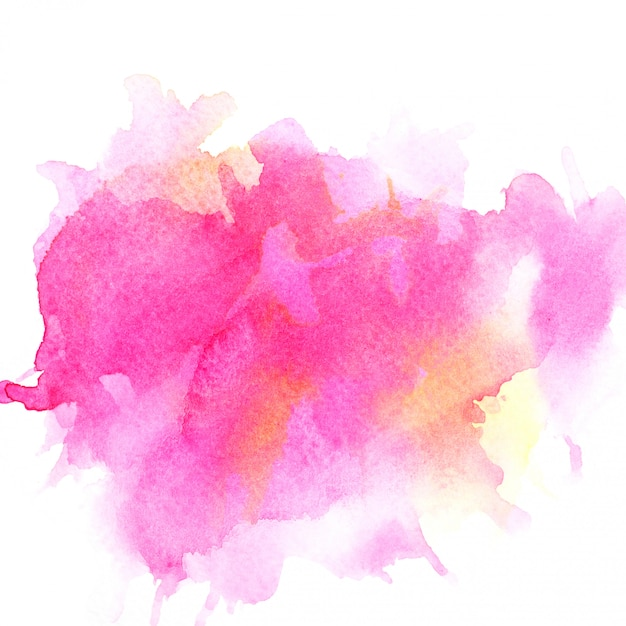 Pink watercolor on paper. Premium Photo