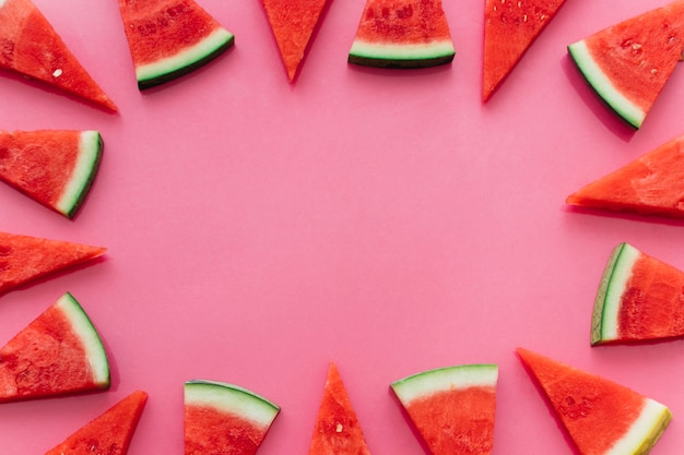 ピンクのスイカの背景とcopyspace 無料写真