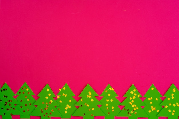 Pink  with christmas holiday decorations pattern Premium Photo