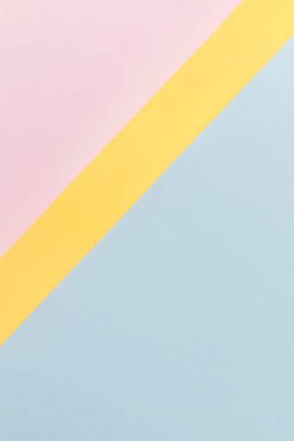 ピンクの黄色と青の食器棚 無料写真
