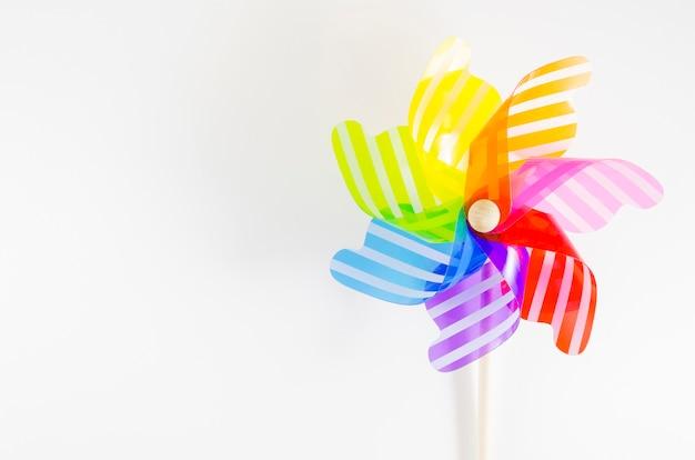 Pinwheel with the rainbow colors Free Photo