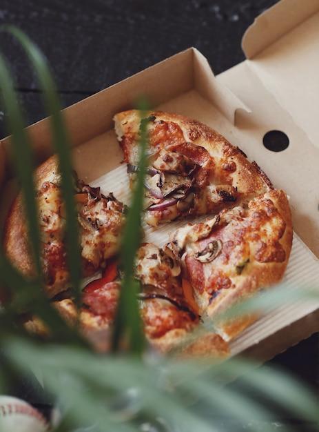 Pizza in a carton box Free Photo