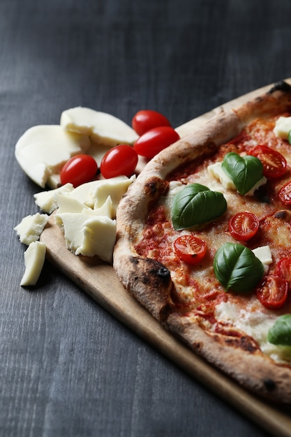 Pizza time! tasty homemade traditional pizza, italian recipe Free Photo